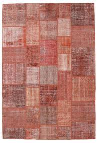 Patchwork Tapete 205X301 Moderno Feito A Mão Vermelho Escuro/Castanho (Lã, Turquia)