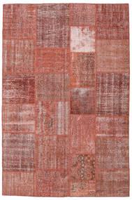 Patchwork Tapete 198X301 Moderno Feito A Mão Castanho/Vermelho Escuro (Lã, Turquia)