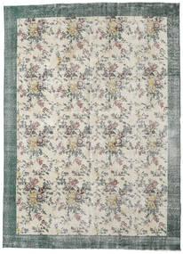 Colored Vintage Tapete 224X307 Moderno Feito A Mão Cinzento Claro/Bege Escuro (Lã, Turquia)