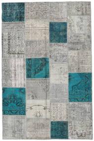 Patchwork Tapete 197X303 Moderno Feito A Mão Cinzento Claro/Turquesa Escuro (Lã, Turquia)