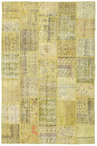 Patchwork Tapete 198X301 Moderno Feito A Mão Verde Claro/Amarelo (Lã, Turquia)