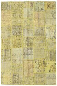 Patchwork Tapete 198X298 Moderno Feito A Mão Verde Claro/Amarelo (Lã, Turquia)