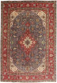 Tabriz Tapete 200X295 Oriental Feito A Mão Vermelho Escuro/Castanho/Castanho Escuro (Lã, Pérsia/Irão)