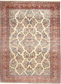 Sarough Patina Tapete 200X280 Oriental Feito A Mão Bege/Castanho Escuro (Lã, Pérsia/Irão)