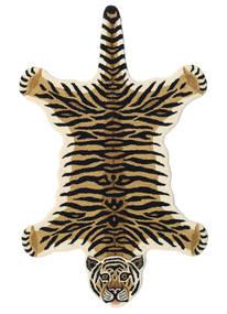 Tiger - Bege Tapete 100X160 Moderno Azul Escuro/Bege (Lã, Índia)