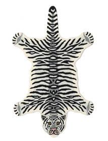 Tiger - Branco Tapete 100X160 Moderno Preto/Bege (Lã, Índia)