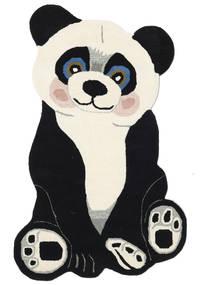 Panda Baby Tapete 100X160 Moderno Cinza Escuro/Bege (Lã, Índia)