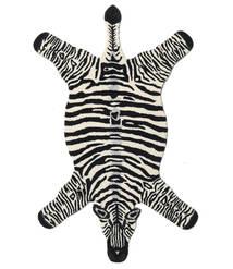 Zebra Tapete 100X155 Moderno Preto/Bege (Lã, Índia)