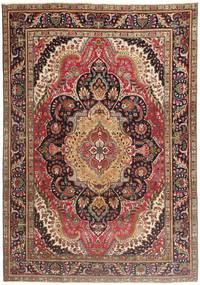 Tabriz Patina Tapete 210X297 Oriental Feito A Mão Vermelho Escuro/Castanho Escuro/Castanho (Lã, Pérsia/Irão)