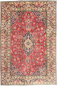 Tabriz Tapete 194X290 Oriental Feito A Mão Castanho Alaranjado/Cinza Escuro (Lã, Pérsia/Irão)