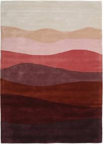 Feeling Handtufted - Wine Tapete 160X230 Moderno Vermelho Escuro/Cinzento Claro (Lã, Índia)
