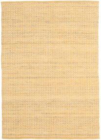 Alva - Escuro _Gold/Branco Tapete 140X200 Moderno Tecidos À Mão Bege Escuro/Bege/Castanho Claro (Lã, Índia)