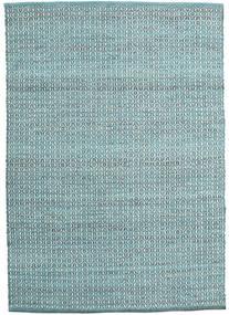 Alva - Turquesa/Branco Tapete 140X200 Moderno Tecidos À Mão Azul Claro/Azul Turquesa (Lã, Índia)
