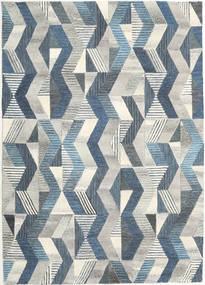 Ziggyn - Cinzento/Azul Tapete 160X230 Moderno Cinzento Claro/Bege Escuro (Lã, Índia)