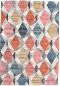 Prisma - Multi Tapete 160X230 Moderno Cinzento Claro/Luz Rosa (Lã, Índia)