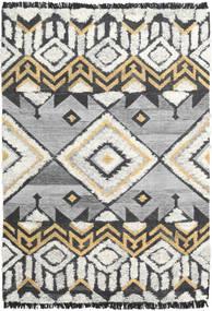 Decco Tapete 160X230 Moderno Tecidos À Mão Cinzento Claro/Preto (Lã, Índia)