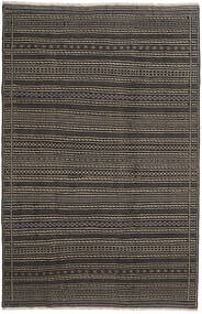Kilim Persa Tapete 200X300 Oriental Tecidos À Mão Cinza Escuro/Preto (Lã, Pérsia/Irão)