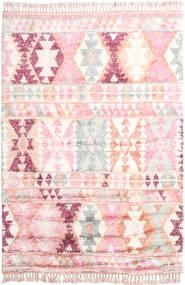 Märta - Rosa Tapete 200X300 Moderno Feito A Mão Luz Rosa/Bege (Lã, Índia)