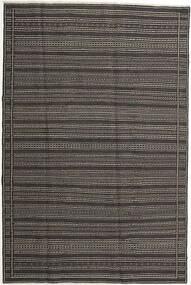 Kilim Tapete 197X298 Oriental Tecidos À Mão Cinza Escuro/Cinzento Claro (Lã, Pérsia/Irão)