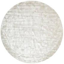 Crystal - Branca Prateado Tapete Ø 250 Moderno Redondo Cinzento Claro/Bege Escuro/Bege Grande ( Índia)