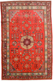 Samarkand Vintage Tapete 161X250 Oriental Feito A Mão Castanho Alaranjado/Vermelho Escuro (Lã, China)