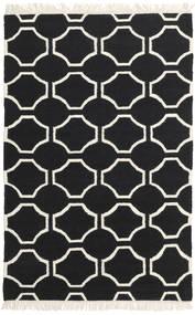 London - Preto/Branco Pérola Tapete 160X230 Moderno Tecidos À Mão Preto/Bege (Lã, Índia)