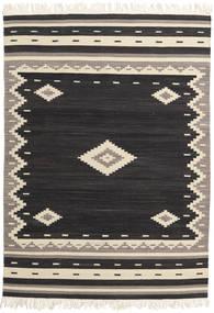 Tribal - Preto Tapete 160X230 Moderno Tecidos À Mão Preto/Bege (Lã, Índia)