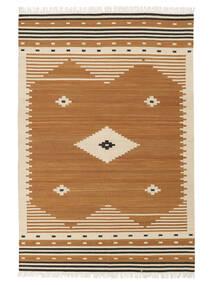 Tribal - Amarelo Mostarda Tapete 160X230 Moderno Tecidos À Mão Castanho/Castanho Claro (Lã, Índia)