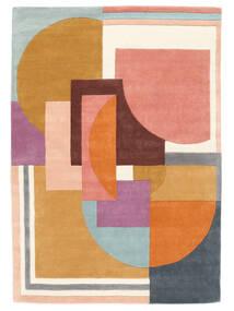 Arty - Multi Tapete 160X230 Moderno Laranja/Bege Escuro (Lã, Índia)