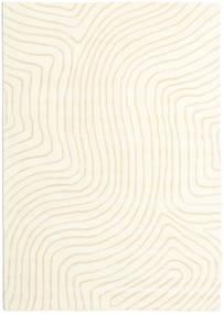 Woodyland - Bege Tapete 160X230 Moderno Bege/Branco/Creme (Lã, Índia)