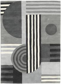 Tilt - Cinzento Tapete 140X200 Moderno Cinzento Claro/Verde Escuro (Lã, Índia)