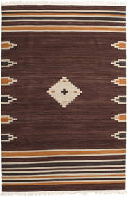 Tribal - Castanho Tapete 200X300 Moderno Tecidos À Mão Castanho Escuro (Lã, Índia)