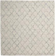 Rut - Prata/Cinzento Melange Tapete 250X250 Moderno Tecidos À Mão Quadrado Cinzento Claro/Bege Escuro Grande (Lã, Índia)