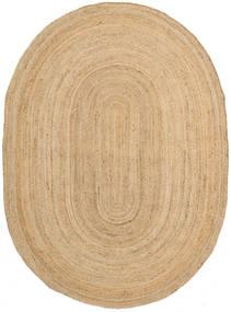 Frida Oval - Natural Tapete 140X200 Moderno Tecidos À Mão Bege Escuro/Bege ( Índia)