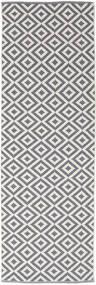 Torun - Cinzento/Neutral Tapete 80X250 Moderno Tecidos À Mão Tapete Passadeira Cinzento Claro/Lilás (Algodão, Índia)