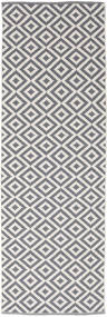 Torun - Cinzento/Neutral Tapete 80X300 Moderno Tecidos À Mão Tapete Passadeira Cinzento Claro/Lilás (Algodão, Índia)