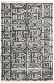 Mauri Tapete 200X300 Moderno Tecidos À Mão Cinza Escuro/Cinzento Claro (Lã, Índia)