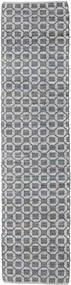 Elna - Cinzento Tapete 80X350 Moderno Tecidos À Mão Tapete Passadeira Cinzento Claro/Roxo (Algodão, Índia)