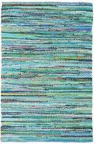 Ronja - Verde Mix Tapete 140X200 Moderno Tecidos À Mão Azul Turquesa/Azul Claro (Algodão, Índia)