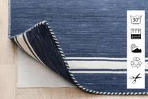 Anti Slip, Non-Woven Tapete 80X300 Moderno Tapete Passadeira Azul/Cinzento Claro ( Bélgica)