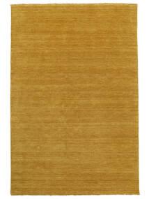 Handloom Fringes - Amarelo Tapete 160X230 Moderno Laranja/Castanho Claro (Lã, Índia)
