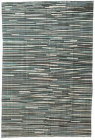 Kilim Moderno Tapete 163X248 Moderno Tecidos À Mão Cinza Escuro/Cinzento Claro (Lã, Afeganistão)