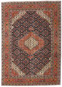 Ardabil Patina Tapete 208X290 Oriental Feito A Mão Cinza Escuro/Vermelho Escuro (Lã, Pérsia/Irão)