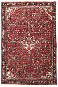 Hamadã Patina Tapete 135X202 Oriental Feito A Mão Castanho Escuro/Vermelho (Lã, Pérsia/Irão)