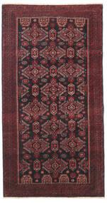 Balúchi Patina Tapete 95X177 Oriental Feito A Mão Vermelho Escuro/Preto/Castanho Escuro (Lã, Pérsia/Irão)