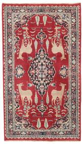 Mashad Patina Tapete 104X182 Oriental Feito A Mão Vermelho/Cinza Escuro (Lã, Pérsia/Irão)