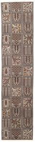 Bakhtiari Patina Tapete 70X305 Oriental Feito A Mão Tapete Passadeira Cinzento Claro/Castanho Escuro (Lã, Pérsia/Irão)