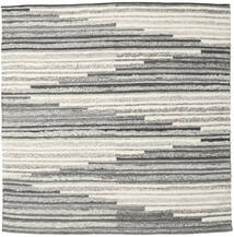 Zennia Tapete 250X250 Moderno Tecidos À Mão Quadrado Cinzento Claro/Bege Escuro Grande (Lã, Índia)