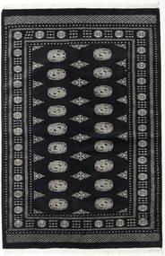 Paquistão Bucara 2Ply Tapete 135X202 Oriental Feito A Mão Preto/Cinza Escuro (Lã, Paquistão)