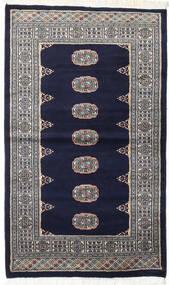 Paquistão Bucara 2Ply Tapete 93X157 Oriental Feito A Mão Preto/Cinzento Claro (Lã, Paquistão)